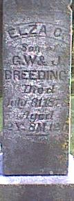 BREEDING, ELZA G - Davis County, Iowa   ELZA G BREEDING