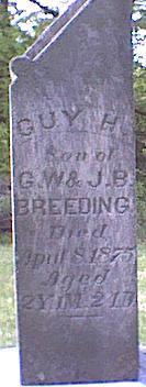 BREEDING, GUY H - Davis County, Iowa   GUY H BREEDING