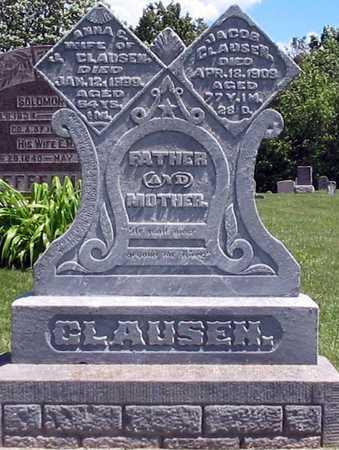 JOHNSON CLAUSEN, ANNA E - Davis County, Iowa | ANNA E JOHNSON CLAUSEN