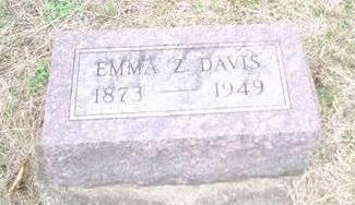 DAVIS, EMMA Z. - Davis County, Iowa   EMMA Z. DAVIS