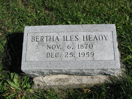 ILES HEADY, BERTHA - Davis County, Iowa | BERTHA ILES HEADY
