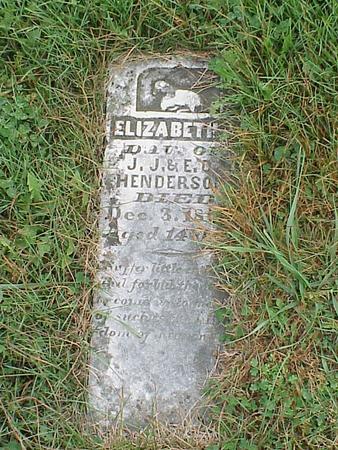 HENDERSON, ELIZABETH J. - Davis County, Iowa   ELIZABETH J. HENDERSON