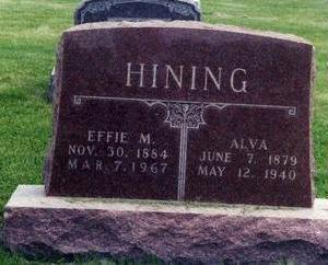 HINING, ALVA - Davis County, Iowa | ALVA HINING