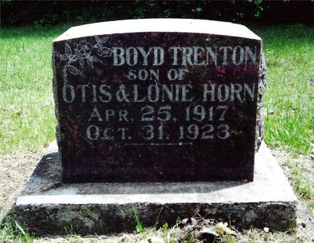 HORN, BOYD TRENTON - Davis County, Iowa   BOYD TRENTON HORN
