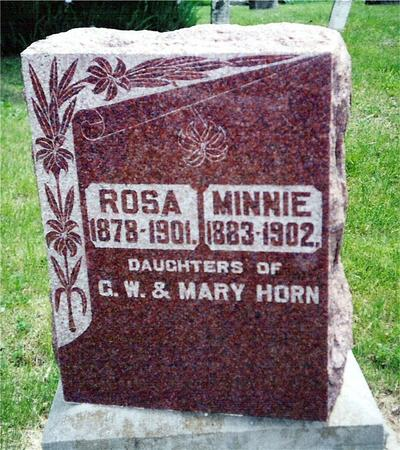 HORN, ROSA AND MINNIE - Davis County, Iowa | ROSA AND MINNIE HORN