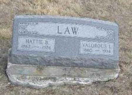 LAW, VALOROUS LEANDER AND HATTIE BISHOP - Davis County, Iowa | VALOROUS LEANDER AND HATTIE BISHOP LAW