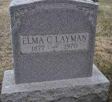 LAYMAN, ELMA C - Davis County, Iowa   ELMA C LAYMAN