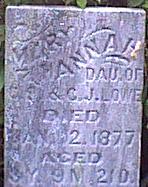 LOWE, MARY HANNAH - Davis County, Iowa | MARY HANNAH LOWE