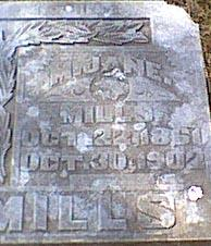MILLS, MARY JANE - Davis County, Iowa | MARY JANE MILLS