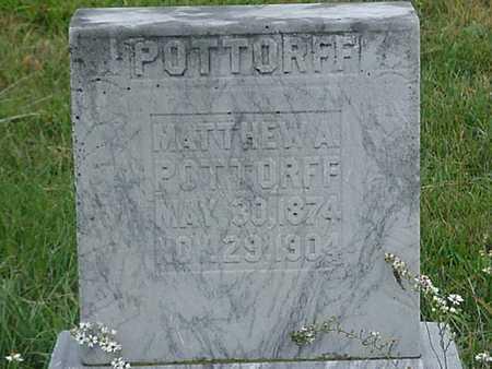 POTTORFF, MATTHEW A - Davis County, Iowa | MATTHEW A POTTORFF