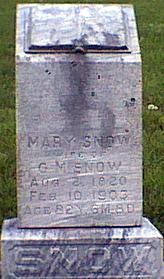 SNOW, MARY - Davis County, Iowa   MARY SNOW