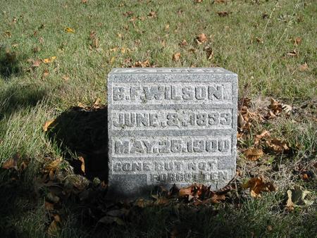 WILSON, BENJAMIN FRANKLIN - Davis County, Iowa   BENJAMIN FRANKLIN WILSON