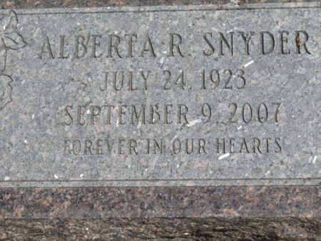 SNYDER, ALBERTA - Davis County, Iowa | ALBERTA SNYDER