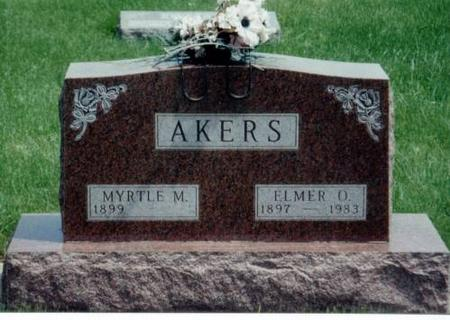AKERS, MYRTLE M. AND ELMER O. - Decatur County, Iowa | MYRTLE M. AND ELMER O. AKERS