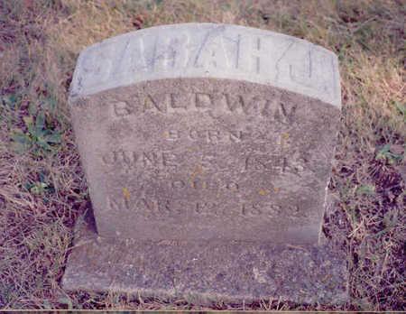 BALDWIN, SARAH - Decatur County, Iowa | SARAH BALDWIN