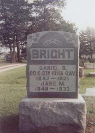 BRIGHT, MAHALA - Decatur County, Iowa | MAHALA BRIGHT