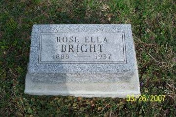 BRIGHT BRIGHT, ROSE ELLA - Decatur County, Iowa | ROSE ELLA BRIGHT BRIGHT