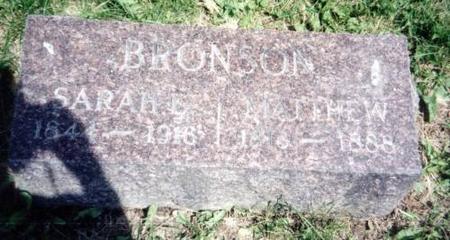 BRONSON, SARAH E. AND MATHEW - Decatur County, Iowa | SARAH E. AND MATHEW BRONSON