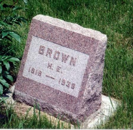 BROWN, H.E. - Decatur County, Iowa | H.E. BROWN