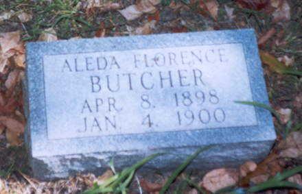 BUTCHER, ALEDA FLORENCE - Decatur County, Iowa   ALEDA FLORENCE BUTCHER