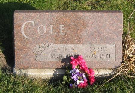 COLE, FRANK W. & CARRIE - Decatur County, Iowa | FRANK W. & CARRIE COLE