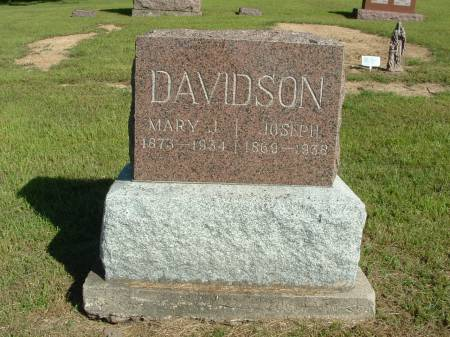 DAVIDSON, MARY J. - Decatur County, Iowa | MARY J. DAVIDSON