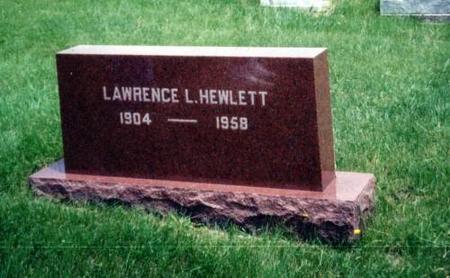 HEWLETT, LAWRENCE L. - Decatur County, Iowa | LAWRENCE L. HEWLETT