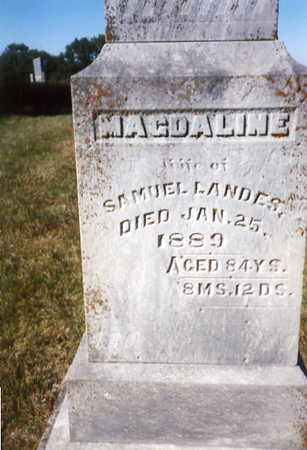 LANDES, MAGDALINE (MARY) - Decatur County, Iowa | MAGDALINE (MARY) LANDES
