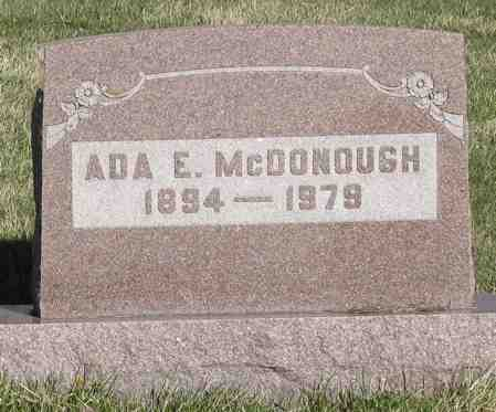 MCDONOUGH, ADA E. - Decatur County, Iowa | ADA E. MCDONOUGH