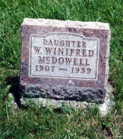 MCDOWELL, W. WINIFRED - Decatur County, Iowa | W. WINIFRED MCDOWELL