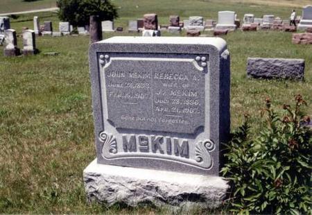 MCKIM, JOHN JOSEPH AND REBECCA - Decatur County, Iowa | JOHN JOSEPH AND REBECCA MCKIM