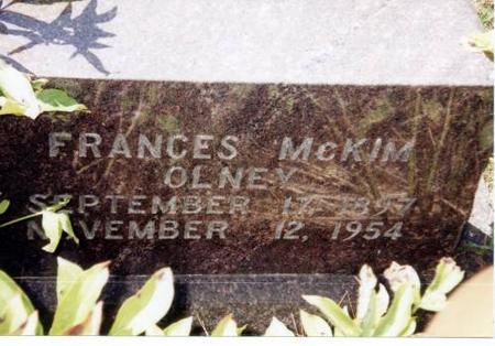 OLNEY, FRANCES MCKIM - Decatur County, Iowa | FRANCES MCKIM OLNEY