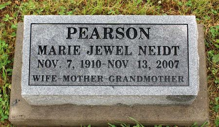 NEIDT PEARSON, MARIE JEWEL - Decatur County, Iowa | MARIE JEWEL NEIDT PEARSON