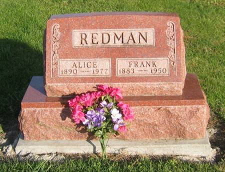 REDMAN, ALICE & FRANK - Decatur County, Iowa | ALICE & FRANK REDMAN