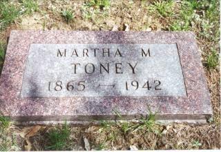 TONEY, MARTHA M. - Decatur County, Iowa   MARTHA M. TONEY