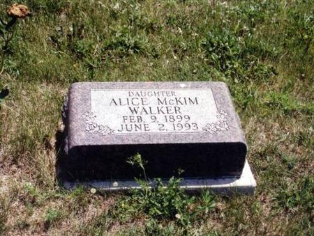 WALKER, ALICE MCKIM - Decatur County, Iowa | ALICE MCKIM WALKER