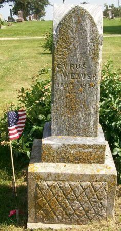 WEAVER, CYRUS - Decatur County, Iowa   CYRUS WEAVER
