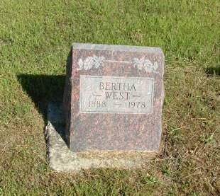 WEST, BERTHA - Decatur County, Iowa   BERTHA WEST