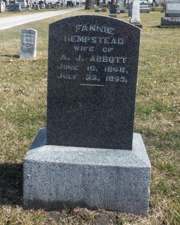 ABBOTT, FANNIE - Delaware County, Iowa | FANNIE ABBOTT