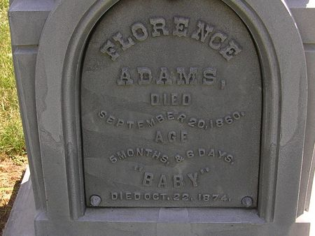 ADAMS, FLORENCE - Delaware County, Iowa | FLORENCE ADAMS