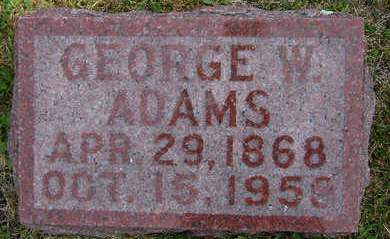 ADAMS, GEORGE W. - Delaware County, Iowa   GEORGE W. ADAMS