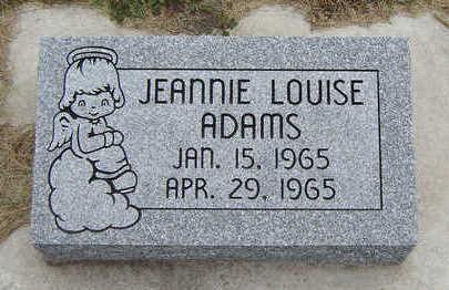ADAMS, JEANNIE LOUISE - Delaware County, Iowa | JEANNIE LOUISE ADAMS