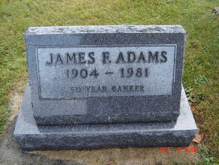 ADAMS, JAMES F. - Delaware County, Iowa | JAMES F. ADAMS