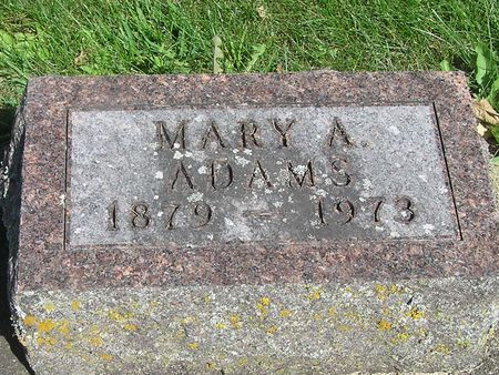 ADAMS, MARY A. - Delaware County, Iowa | MARY A. ADAMS