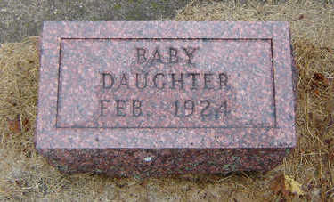 ALCORN, BABY DAUGHTER - Delaware County, Iowa | BABY DAUGHTER ALCORN