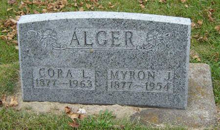 ALGER, CORA L. - Delaware County, Iowa | CORA L. ALGER