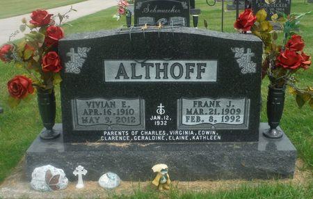 ALTHOFF, FRANK J. - Delaware County, Iowa   FRANK J. ALTHOFF