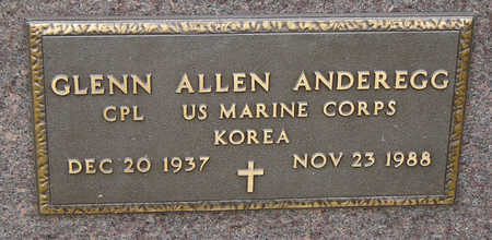 ANDEREGG, GLENN ALLEN - Delaware County, Iowa   GLENN ALLEN ANDEREGG