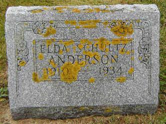 SCHULTZ ANDERSON, ELDA - Delaware County, Iowa | ELDA SCHULTZ ANDERSON
