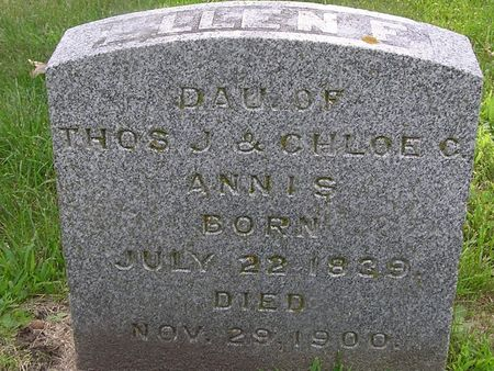 ANNIS, ELLEN E. - Delaware County, Iowa | ELLEN E. ANNIS